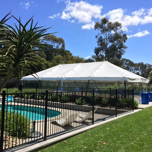 Marquee 6x12 Frame by the pool